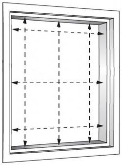 rechteckige fenster f r plisseemontage richtig ausmessen. Black Bedroom Furniture Sets. Home Design Ideas